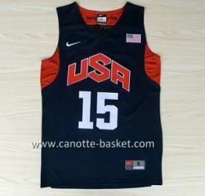 Maglie basket 2012 USA Carmelo Anthony #15 nero