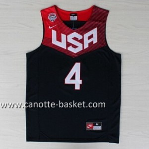 Maglie basket 2014 USA Stephen Curry #4 nero