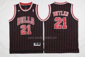 nuovo Maglie nba Chicago Bulls Jimmy Butler #21 striscia rosso nero