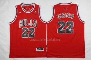 nuovo Maglie nba Chicago Bulls Taj Gibson #22 rosso