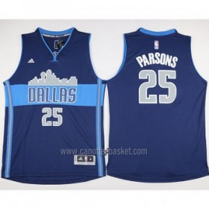 nuovo Maglie nba Dallas Mavericks Chandler Parsons #25 deep blu