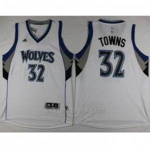 nuovo Maglie nba Minnesota Timberwolves Karl-Anthony Towns #32 bianco