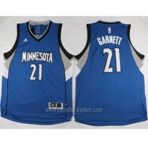 nuovo Maglie nba Minnesota Timberwolves Kevin Garnett #21 blu