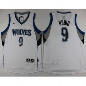 nuovo Maglie nba Minnesota Timberwolves Ricky Rubio #9 bianco