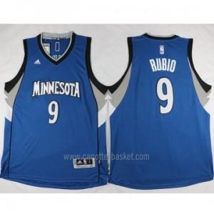 nuovo Maglie nba Minnesota Timberwolves blu Ricky Rubio #9