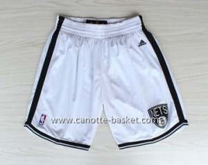 pantaloncini nba Brooklyn Nets bianco