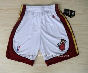 pantaloncini nba Miami Heat nuovi tessuti bianco