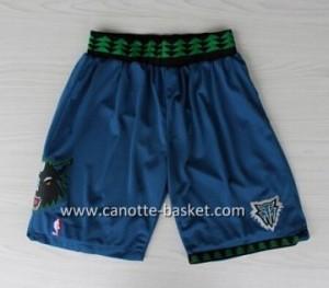 pantaloncini nba Minnesota Timberwolves Retro blu