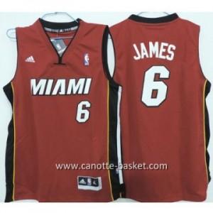 Maglie bambino Miami Heat LeBron James #6 rosso