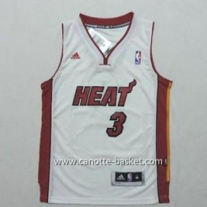 Maglie bambino Miami Heat Dwyane Wade #3 bianco