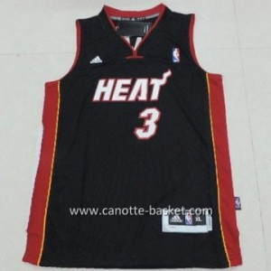 Maglie bambino Miami Heat Dwyane Wade #3 nero