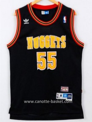 Maglie nba Denver Nuggets Dikembe Mutombo #55 nero