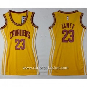 Maglie nba Donna Cleveland Cavaliers LeBron James #23 giallo