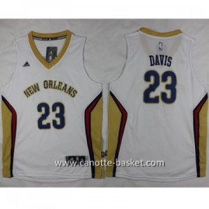 Maglie nba bambino New Orleans Pelicans Anthony Davis #23 bianco