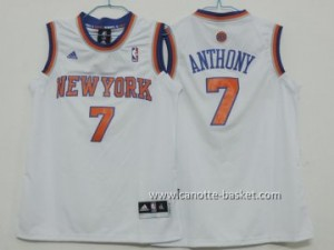 Maglie nba bambino New York Knicks Carmelo Anthony #7 bianco