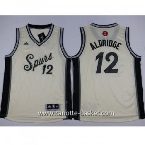Maglie nba bambino San Antonio Spurs LaMarcus Aldridge #12 bianco