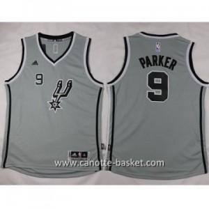 Maglie nba bambino San Antonio Spurs Tony Parker #9 grigio
