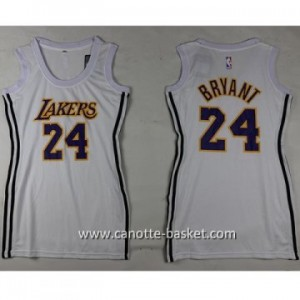Maglie nba Donna Los Angeles Lakers Kobe Bryant #24 bianco