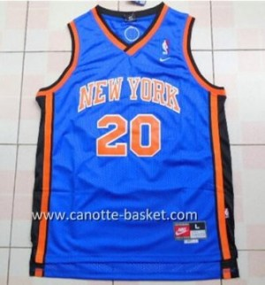 Maglie nba New York Knicks Allan Houston #20 blu