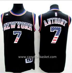 Maglie nba New York Knicks Carmelo Anthony #7 Flag Edition