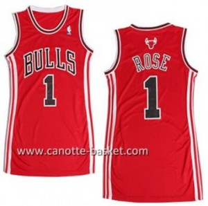 Maglie nba Donna Chicago Bulls Derrick Rose #1 rosso