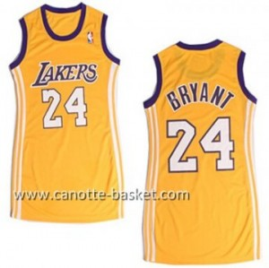 Maglie nba Donna Los Angeles Lakers Kobe Bryant #24 giallo