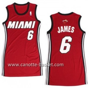 Maglie nba Donna Miami Heat LeBron James #6 rosso