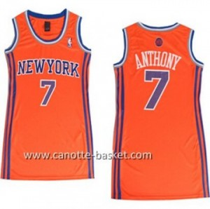 Maglie nba Donna New York Knicks Carmelo Anthony #7 arancione