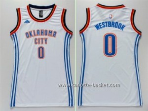 Maglie nba Donna Oklahoma City Thunder Russell Westbrook #0 bianco