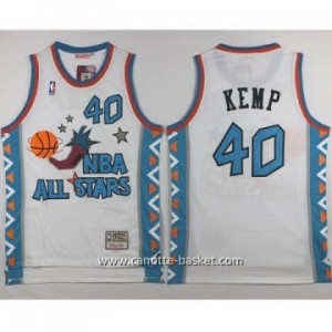 Maglie 1996 All-Star John Shawn Kemp #40 bianco