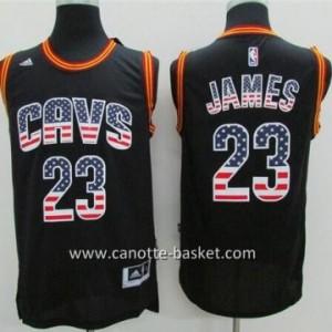 Maglie nba Cleveland Cavalier LeBron James #23 Flag Edition
