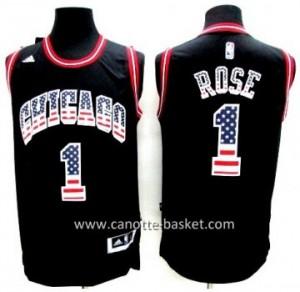 Maglie nba Chicago Bulls Derrick Rose # 1 Flag Edition