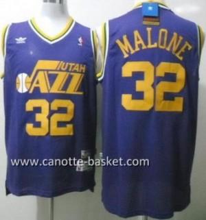 Maglie nba Utah Jazz Karl Malone #32 porpora