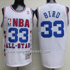 Maglie 1990 All-Star Larry Bird #33 bianco