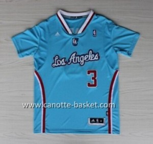 Maglie nba Los Angeles Clippers Chris Paul #3 blu manica lunga