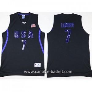 maglie basket 2016 USA Kyle Lowry #7 nero