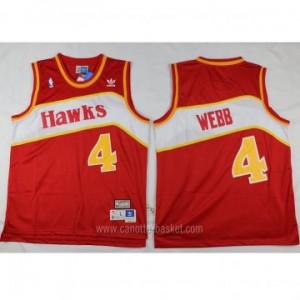 Maglie nba Atlanta Hawks Spud Webb #4 rosso Retro