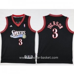 Maglie nba bambino Philadelphia 76ers Allen Iverson #3 nero