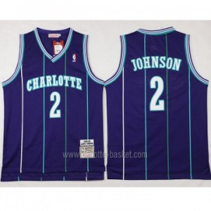 Maglie nba Charlotte Hornet Larry Johnson #2 porpora