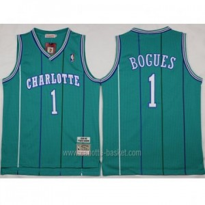 Maglie nba Charlotte Hornet Muggsy Bogues #1 blue Lake