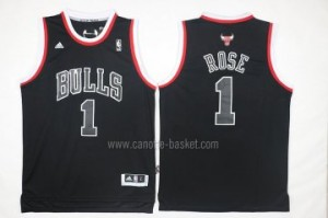 Maglie nba Chicago Bulls Derrick Rose #1 parola nero