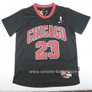 Maglie nba Chicago Bulls Michael Jordan #23 nero manica lunga