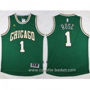 Maglie nba Chicago Bulls Derrick Rose #1 verde