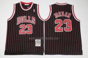 Maglie nba Chicago Bulls Michael Jordan #23 striscia nero classico