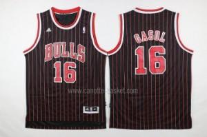 Maglie nba Chicago Bulls Pau Gasol #16 striscia rosso nero