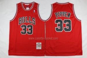 Maglie nba Chicago Bulls Scottie Pippen #33 classico rosso