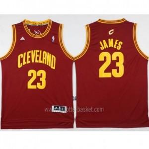 Maglie nba Cleveland Cavalier LeBron James #23 rosso nuovi tessuti