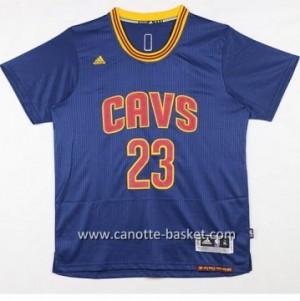 Maglie nba Cleveland Cavalier LeBron James #23 blu marino manica corta