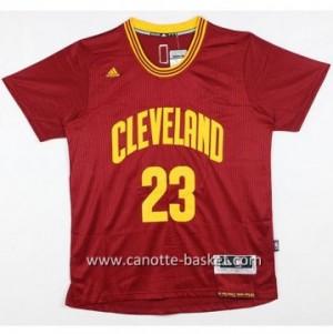 Maglie nba Cleveland Cavalier LeBron James #23 rosso manica corta