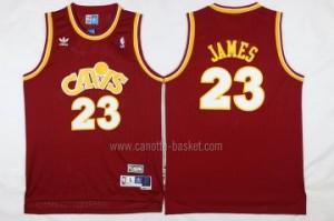 Maglie nba Cleveland Cavalier rosso LeBron James #23 Retro